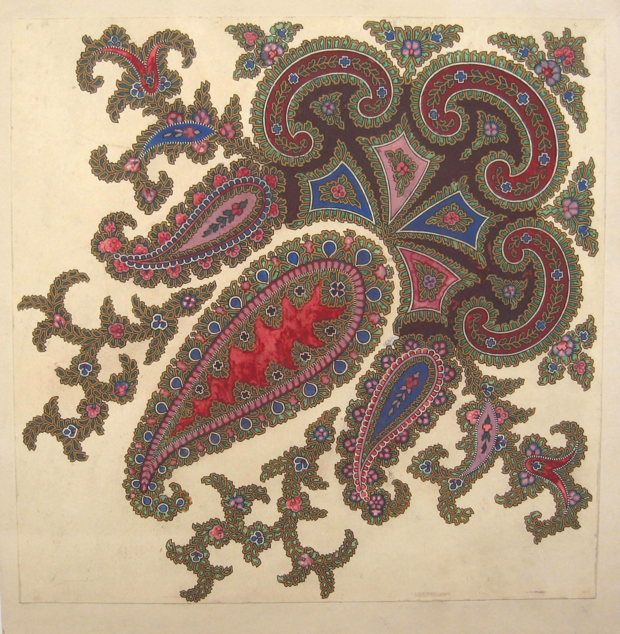 Paisley Shawl Designs Gsa Archives Collections