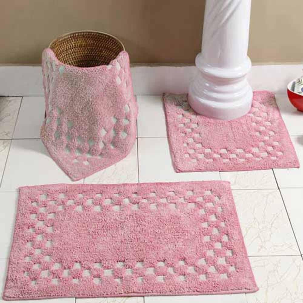 Pale Pink Bath Mat Set Bathroom Design Ideas