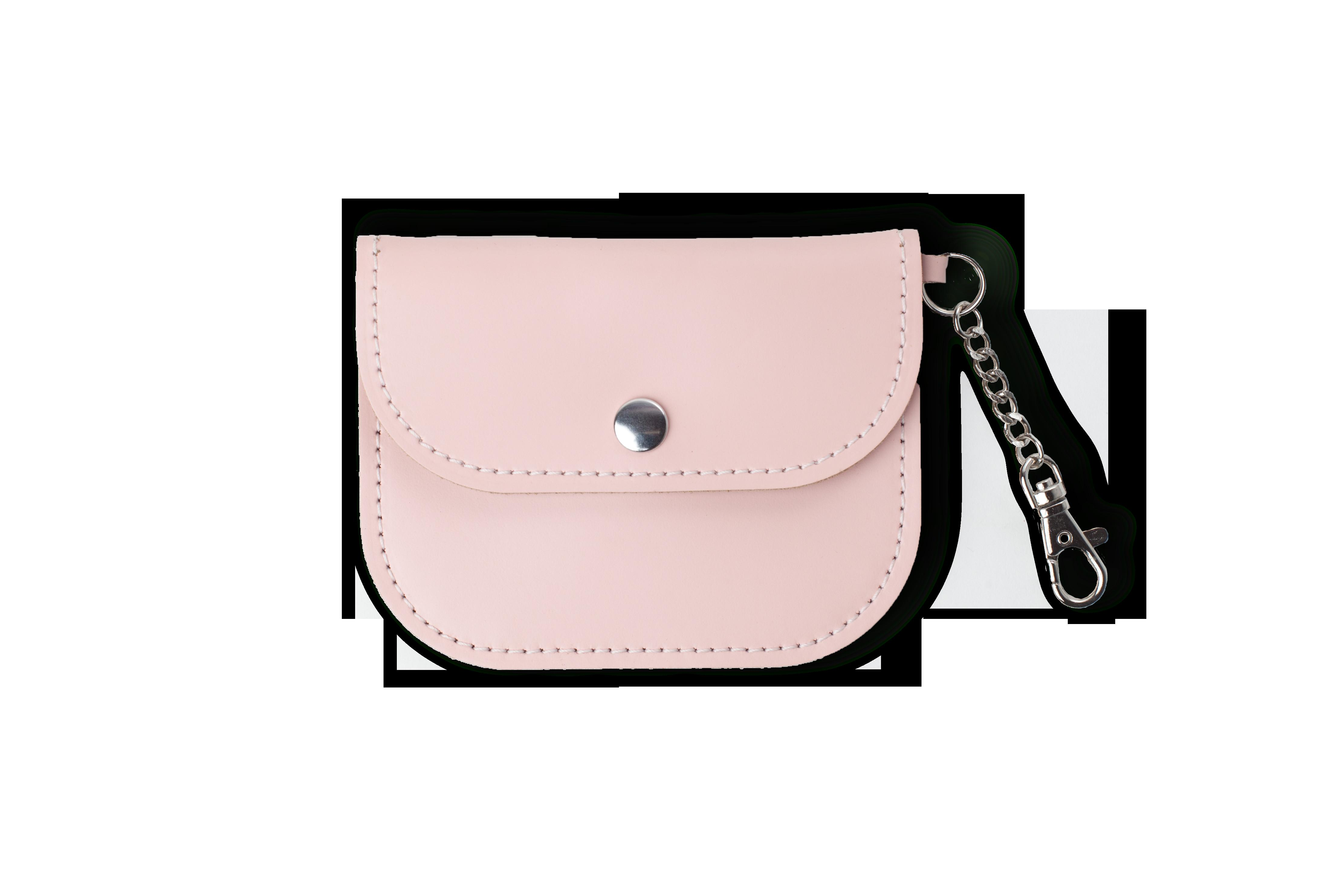 Pale Pink Leather Coin Purse Made