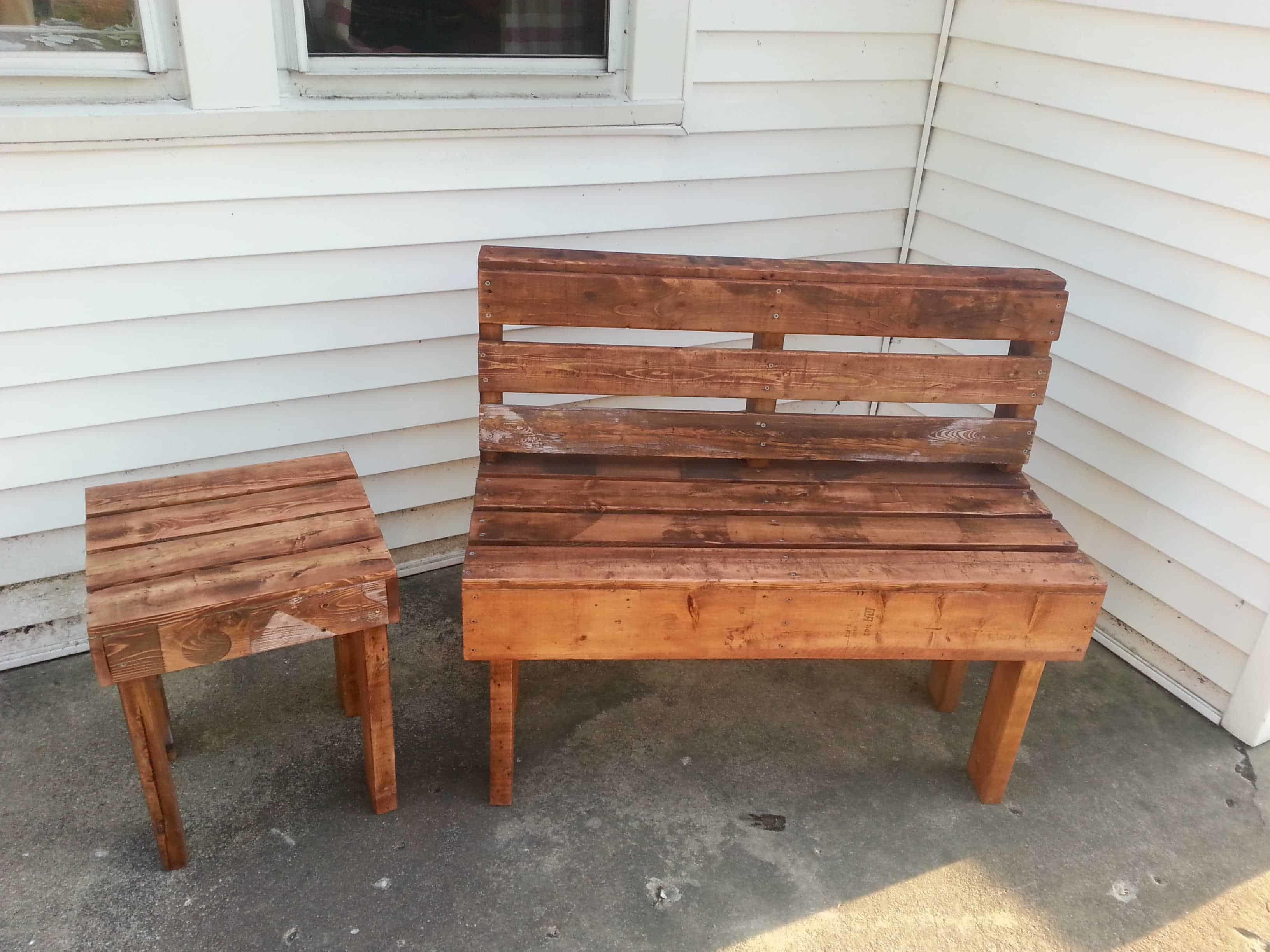 Pallet Bench Table 1001 Pallets