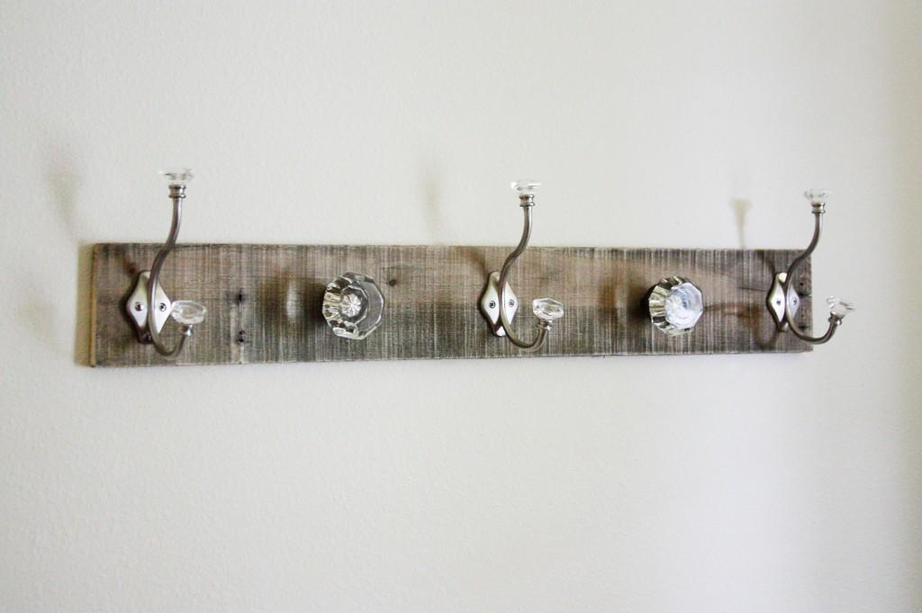 Pallet Coat Rack Glass Door Knob Repurpose Beingbrook