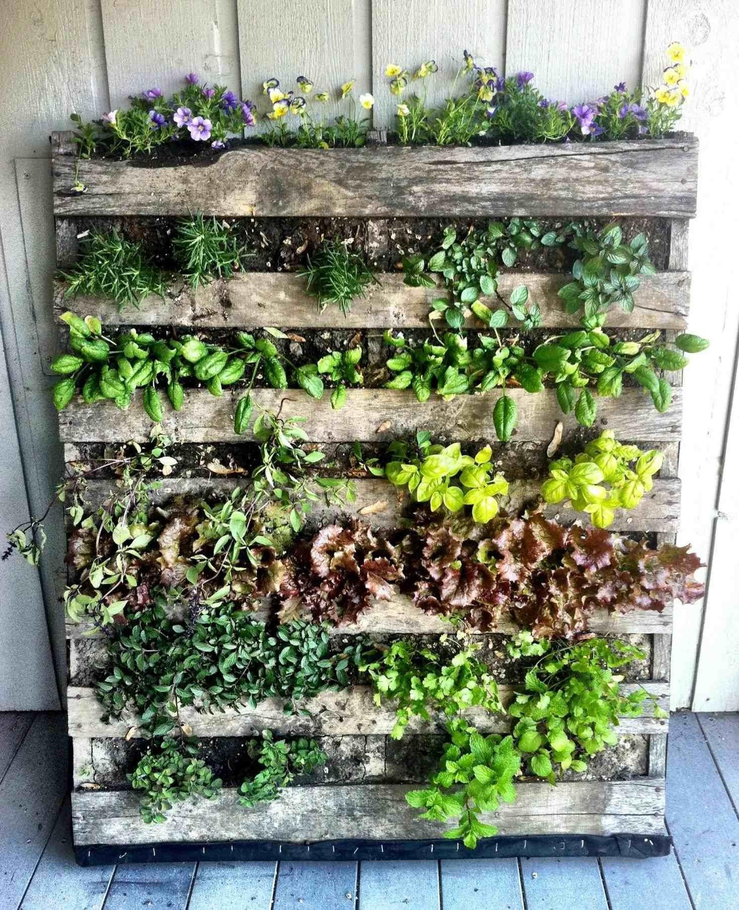 Pallet Wall Planter Box Cascading