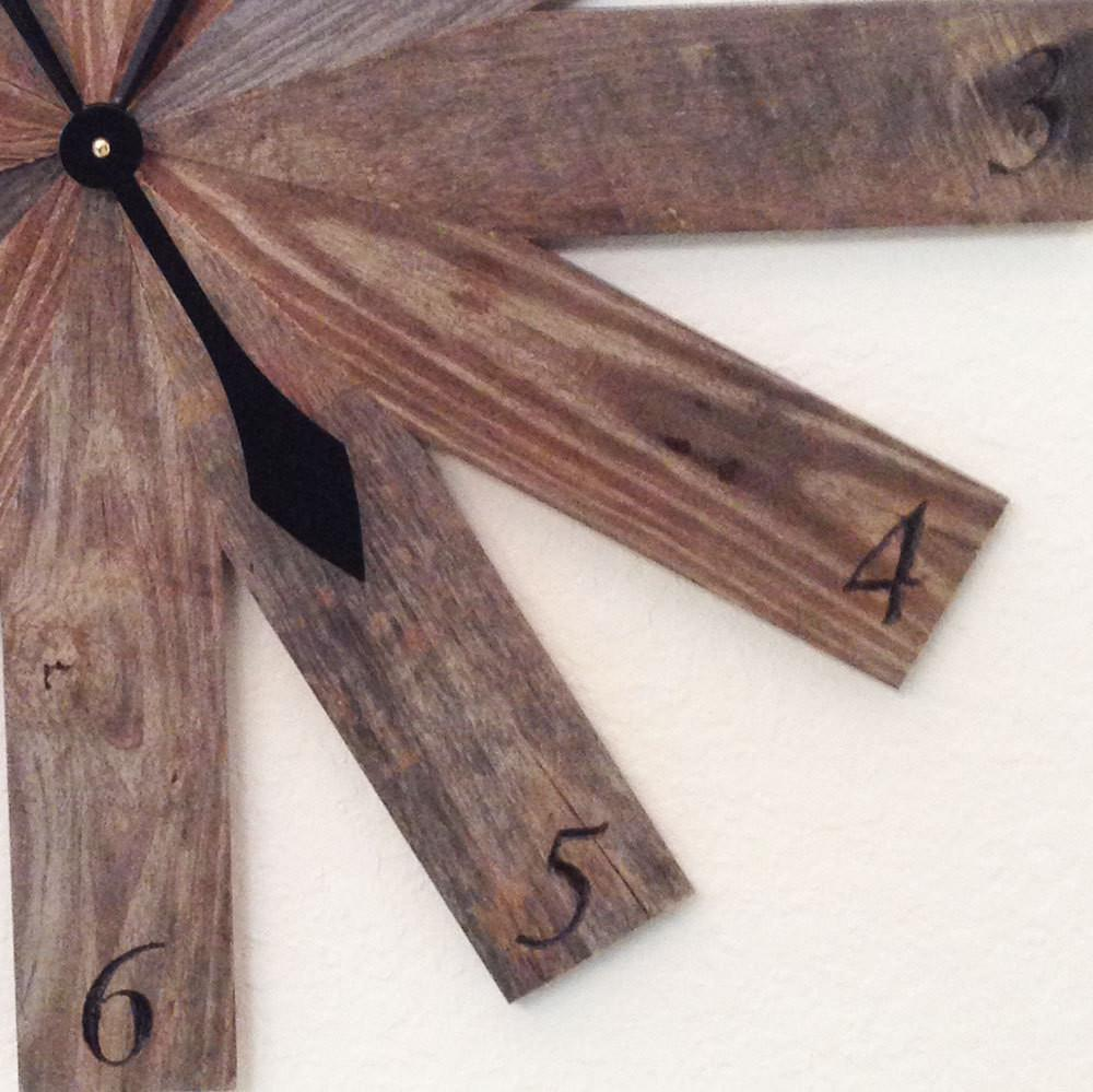 Pallet Wood Clock Cool Wall Unusual