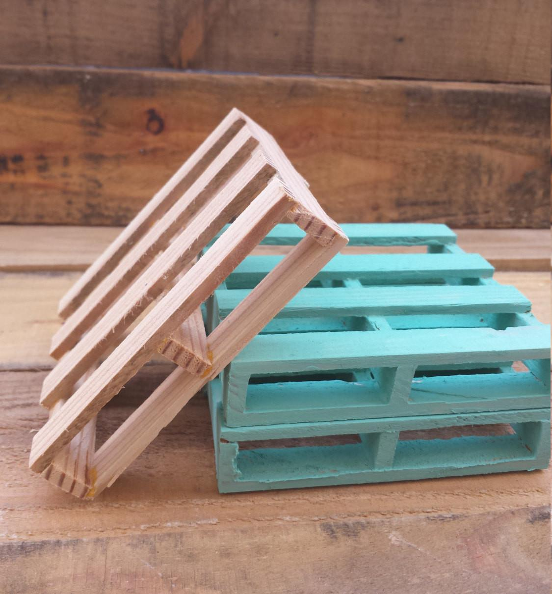 Pallet Wood Coasters Recycled Rustic