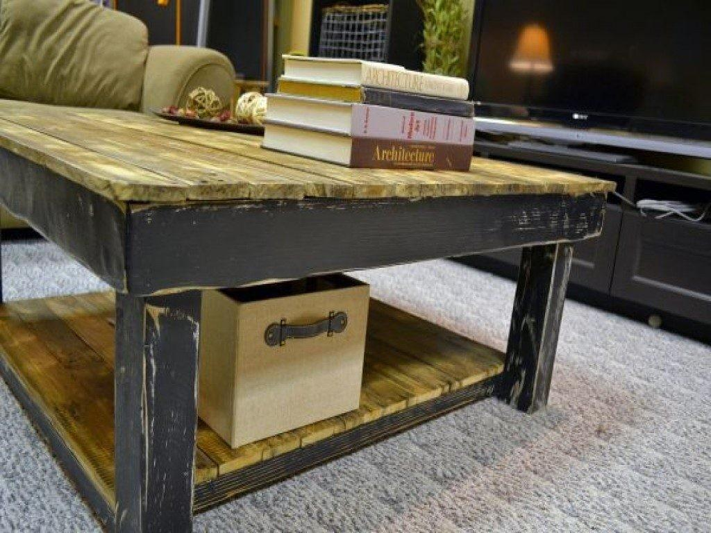 Pallet Wood Coffee Table Awesome Transforming Reclaimed