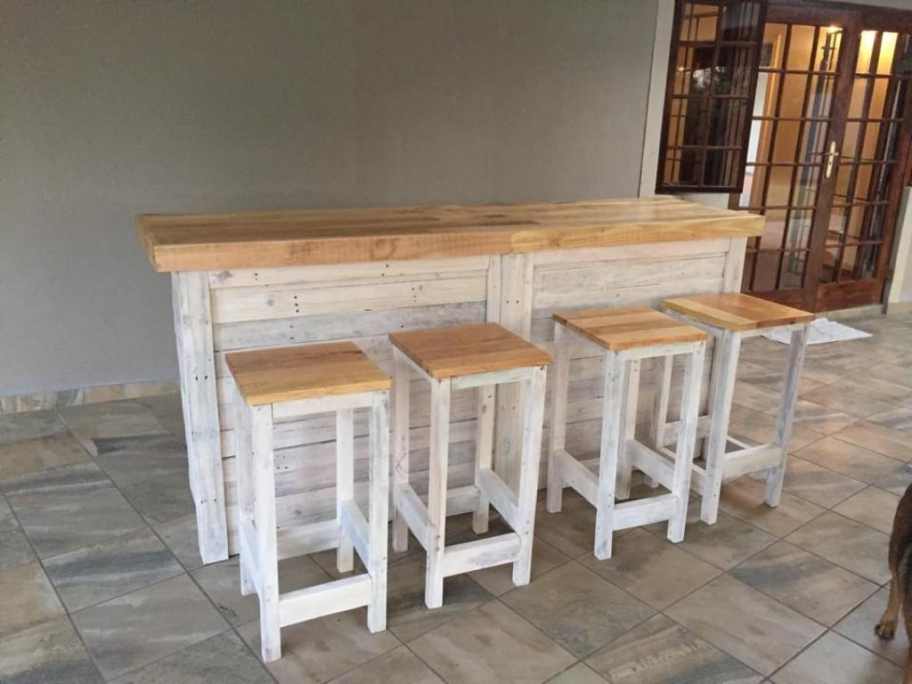Pallet Wood Coffee Table Luxury Bar Counter Stools