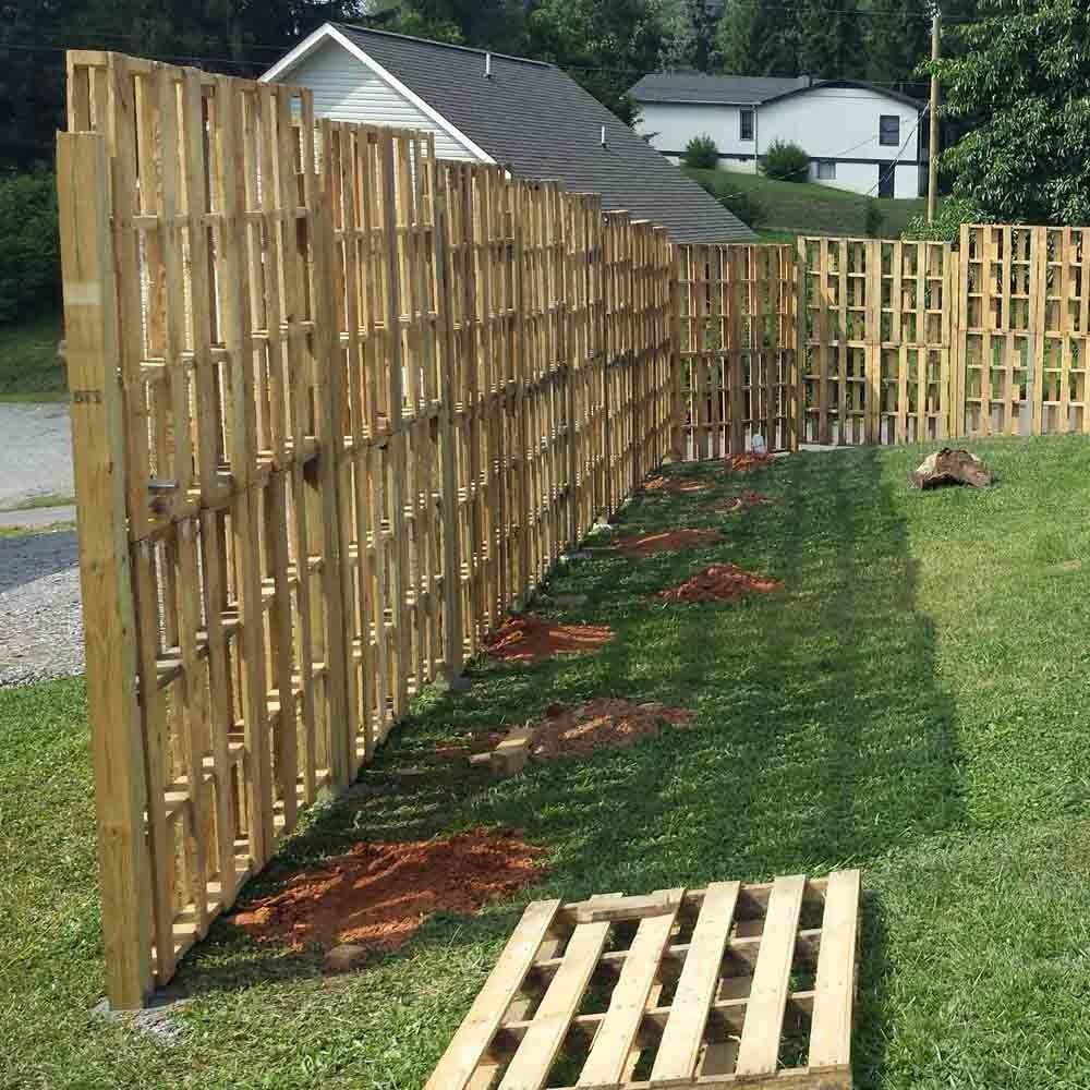 Pallet Wood Privacy Fence Appalachian Craftsmanship