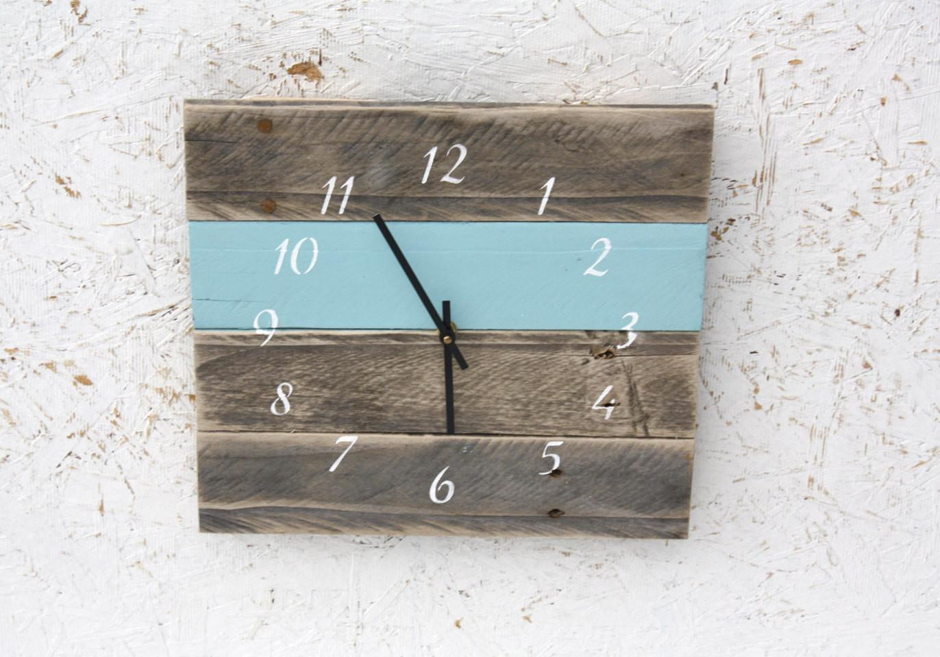 Pallet Wood Wall Clock Reclaimed Custom