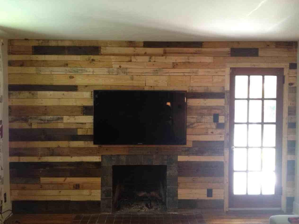 Pallet Wood Wall Fireplace Projects Diy Contest