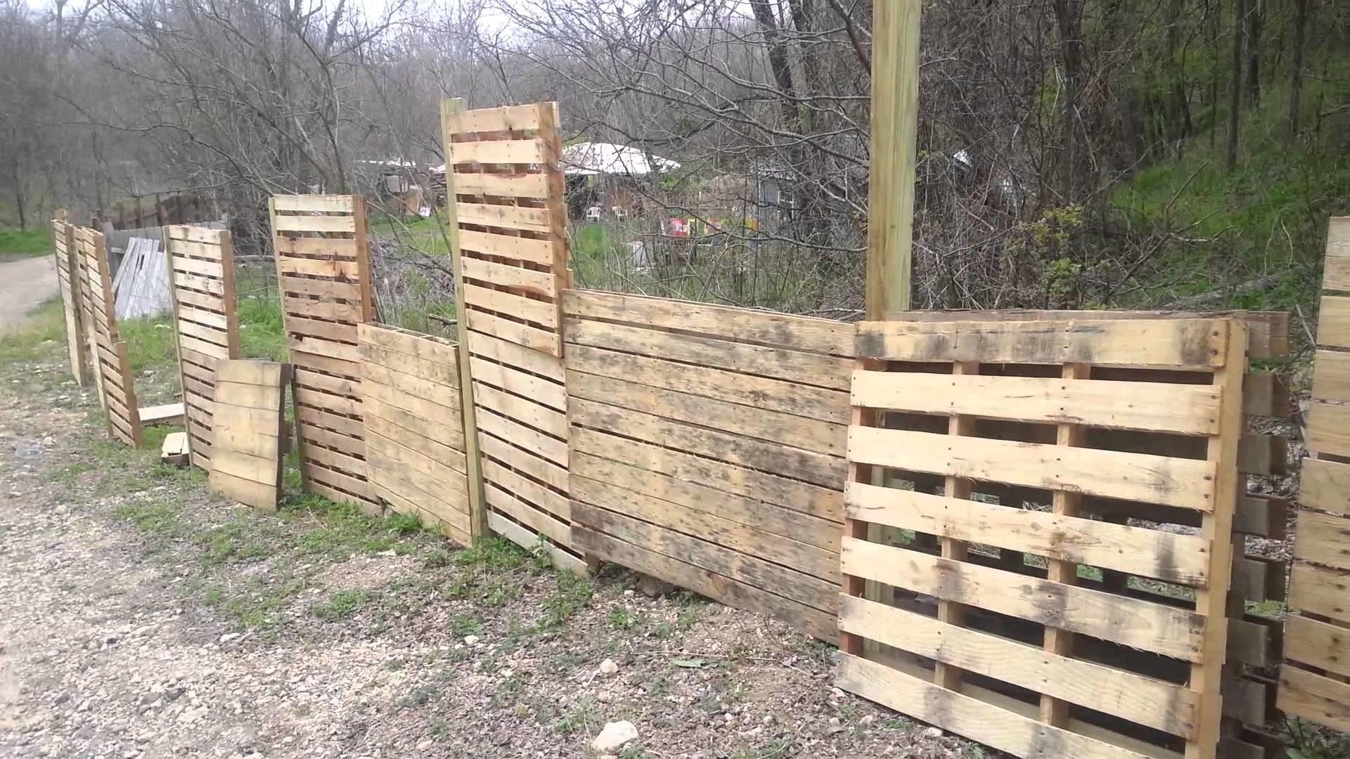 Pallets Fence Vertical Gardens