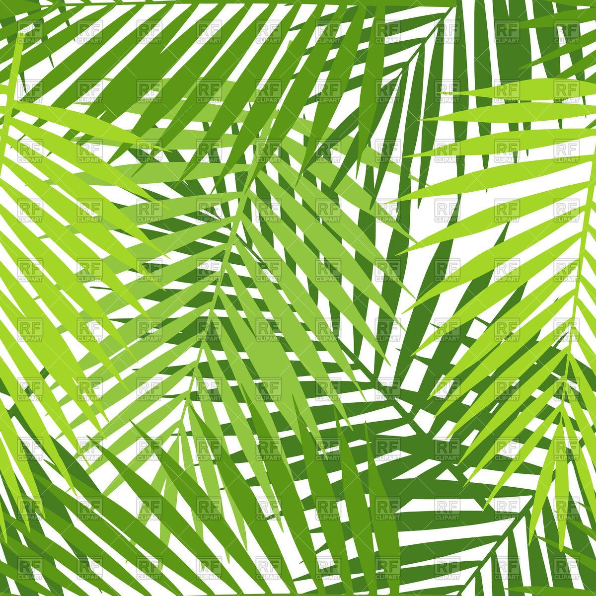 Palm Leaf Seamless Pattern Royalty Vector Clip Art