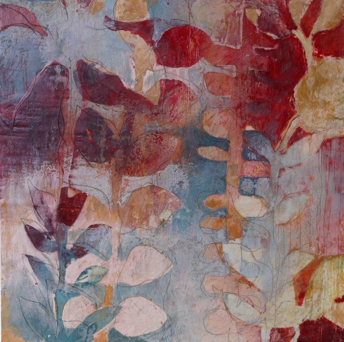 Palm Winter Jody Hewitt Brimhall Encaustic Painting