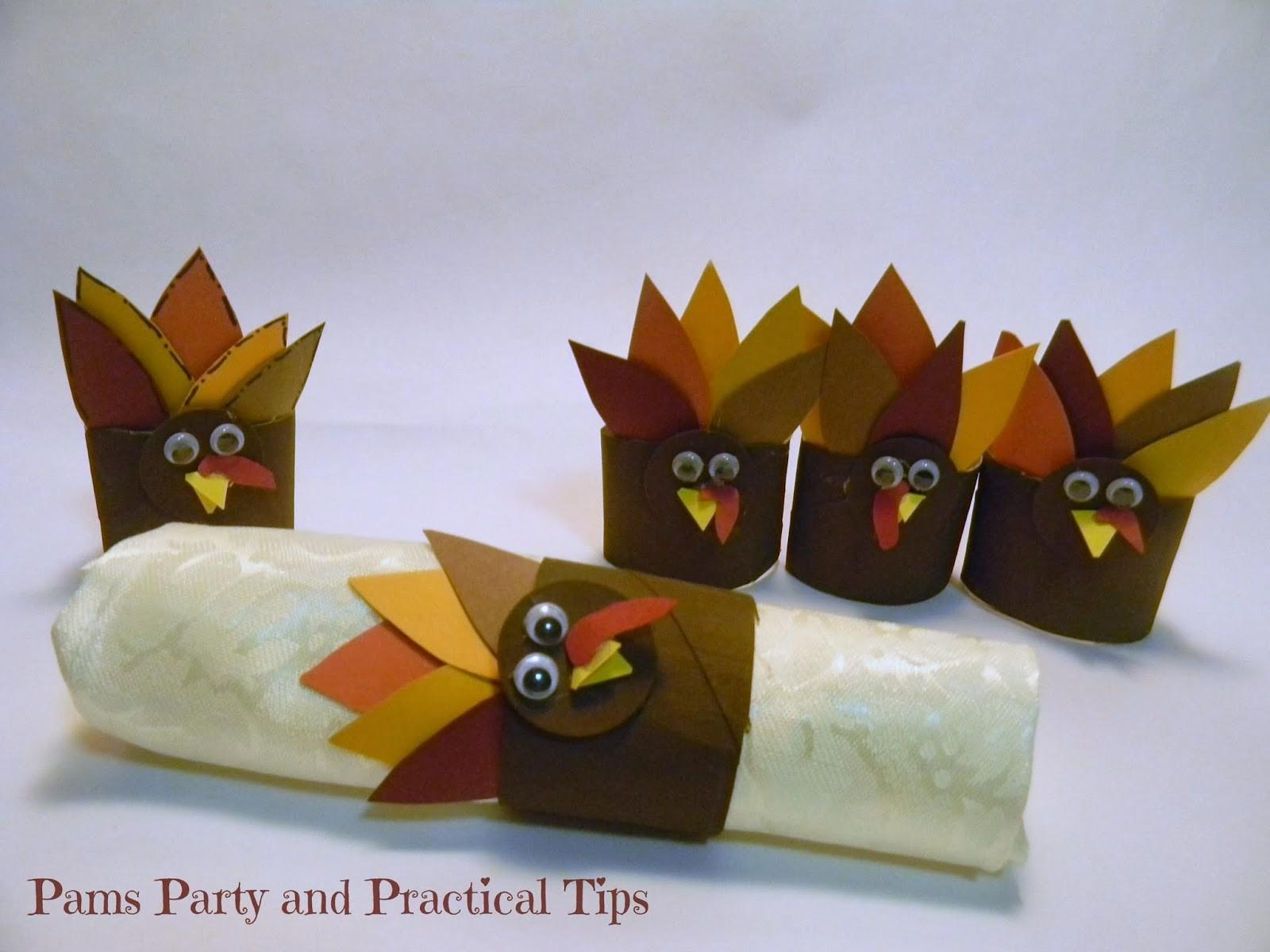 Pams Party Practical Tips Turkey Napkin Rings