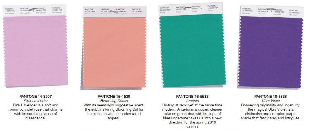 Pantone Fashion Color Trend Report Spring 2018 Nandina Home