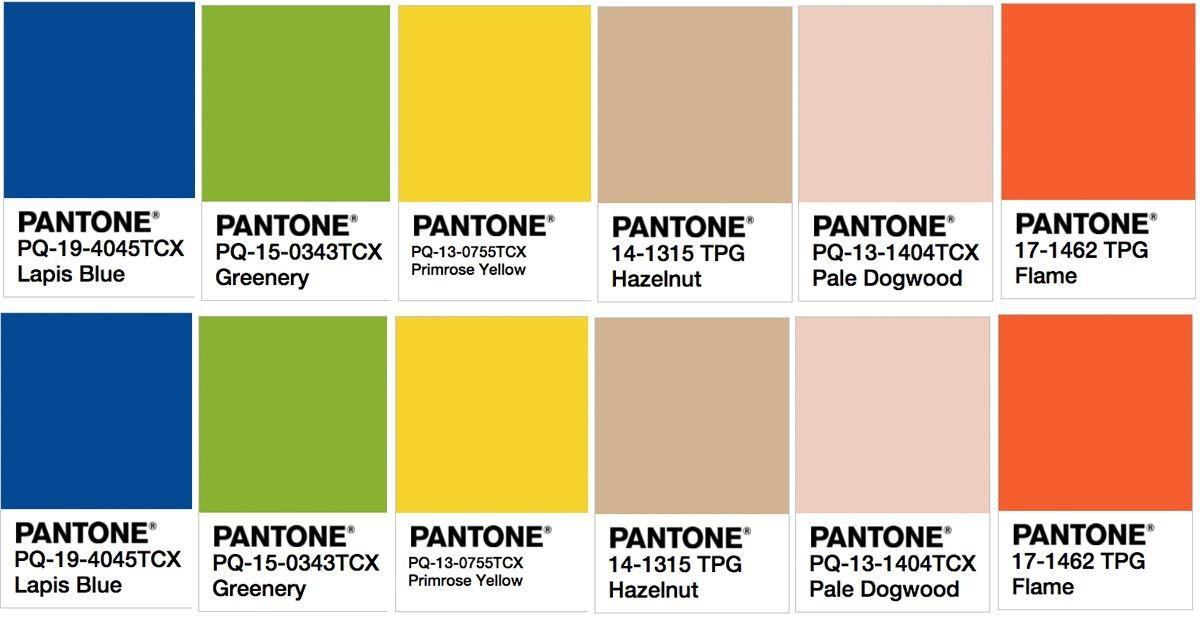 Pantone Hottest Color Trends Spring 2017