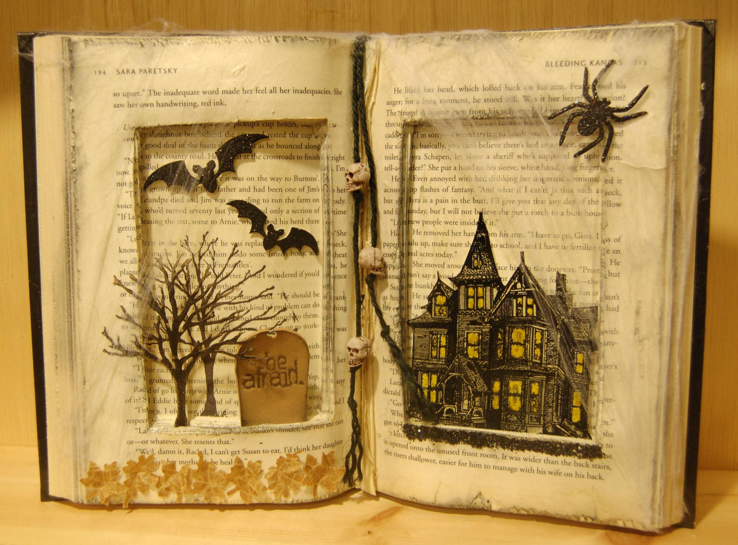 Paper Anthology Blog Archive Altered Spooky Book