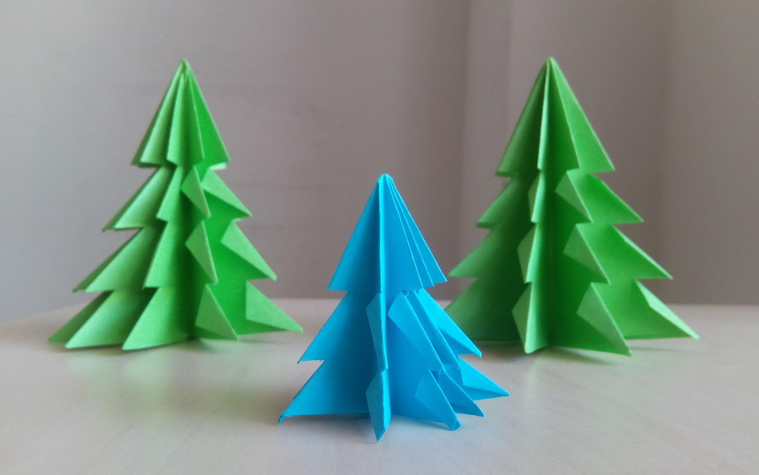 Paper Christmas Tree Make Xmas