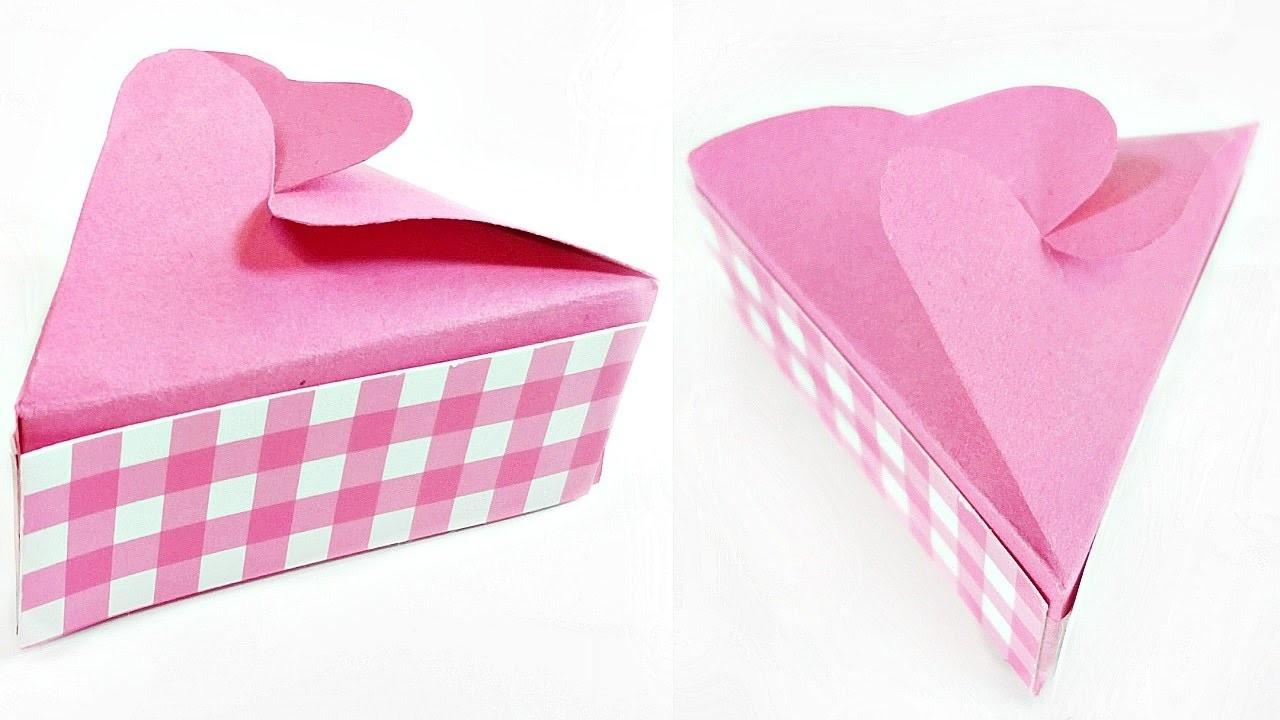 Paper Crafts Gift Box Template Easy Tutorial Making Diy
