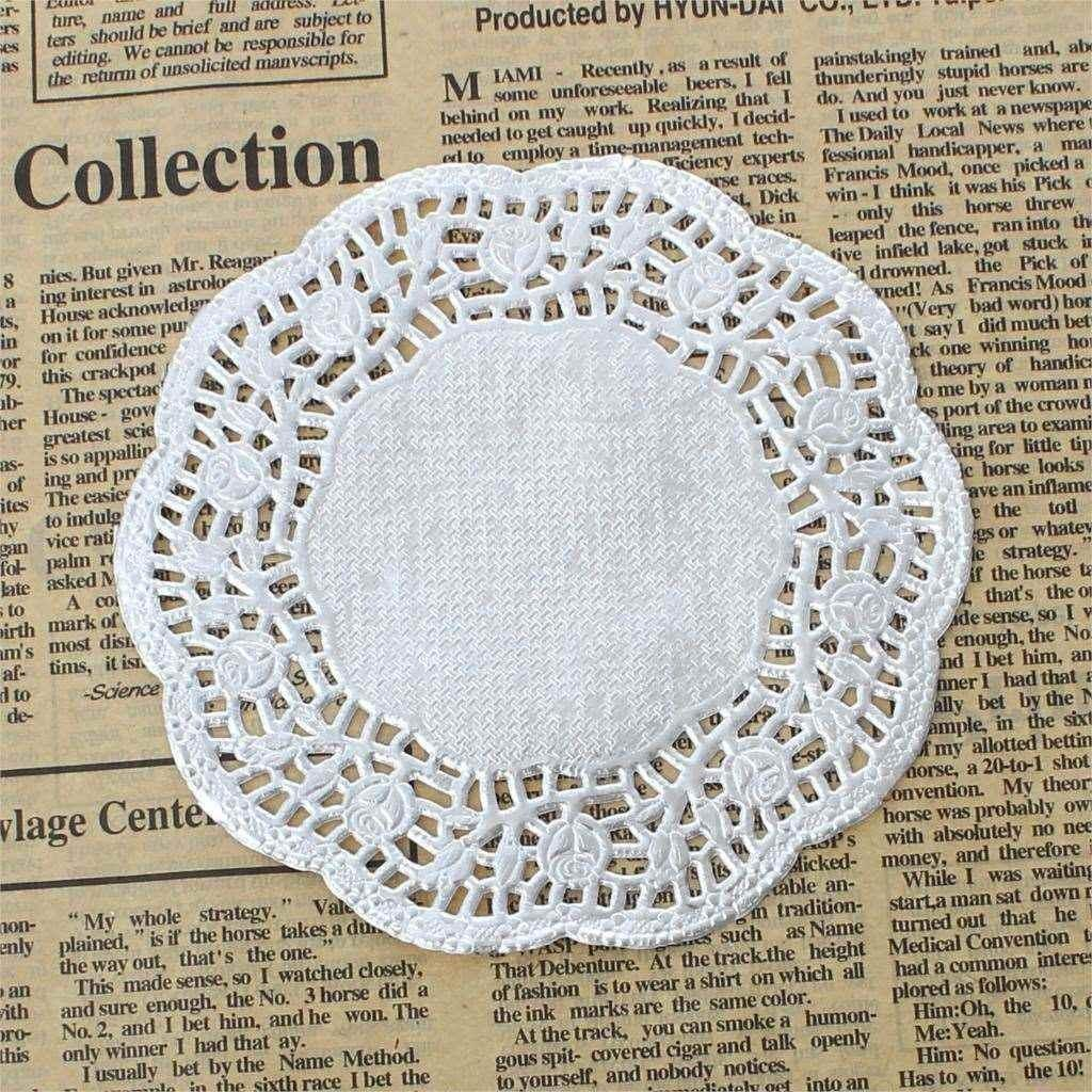 Paper Diy Craft Making Lace Doilies Wedding