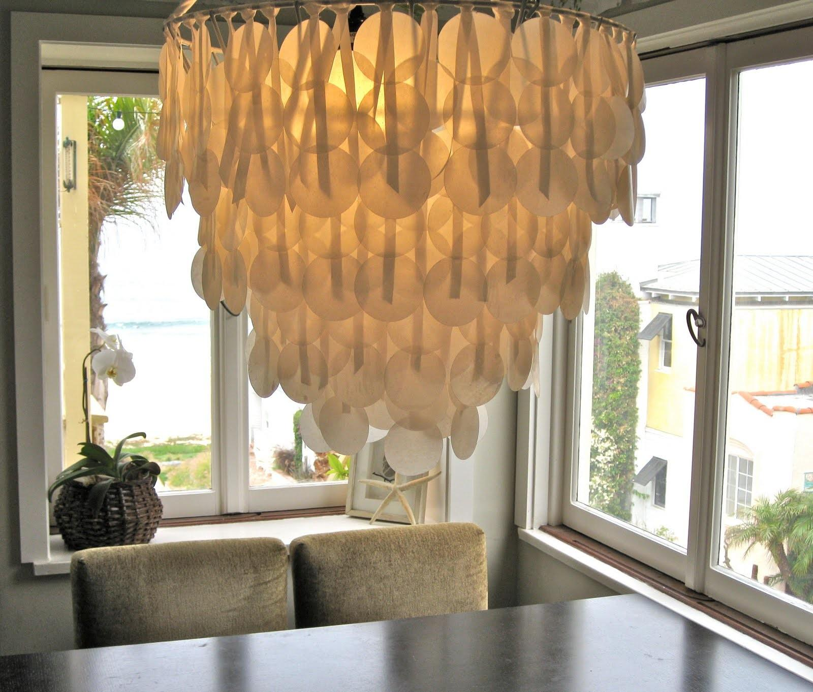 Paper Ink Capiz Shell Chandelier Design Sponge