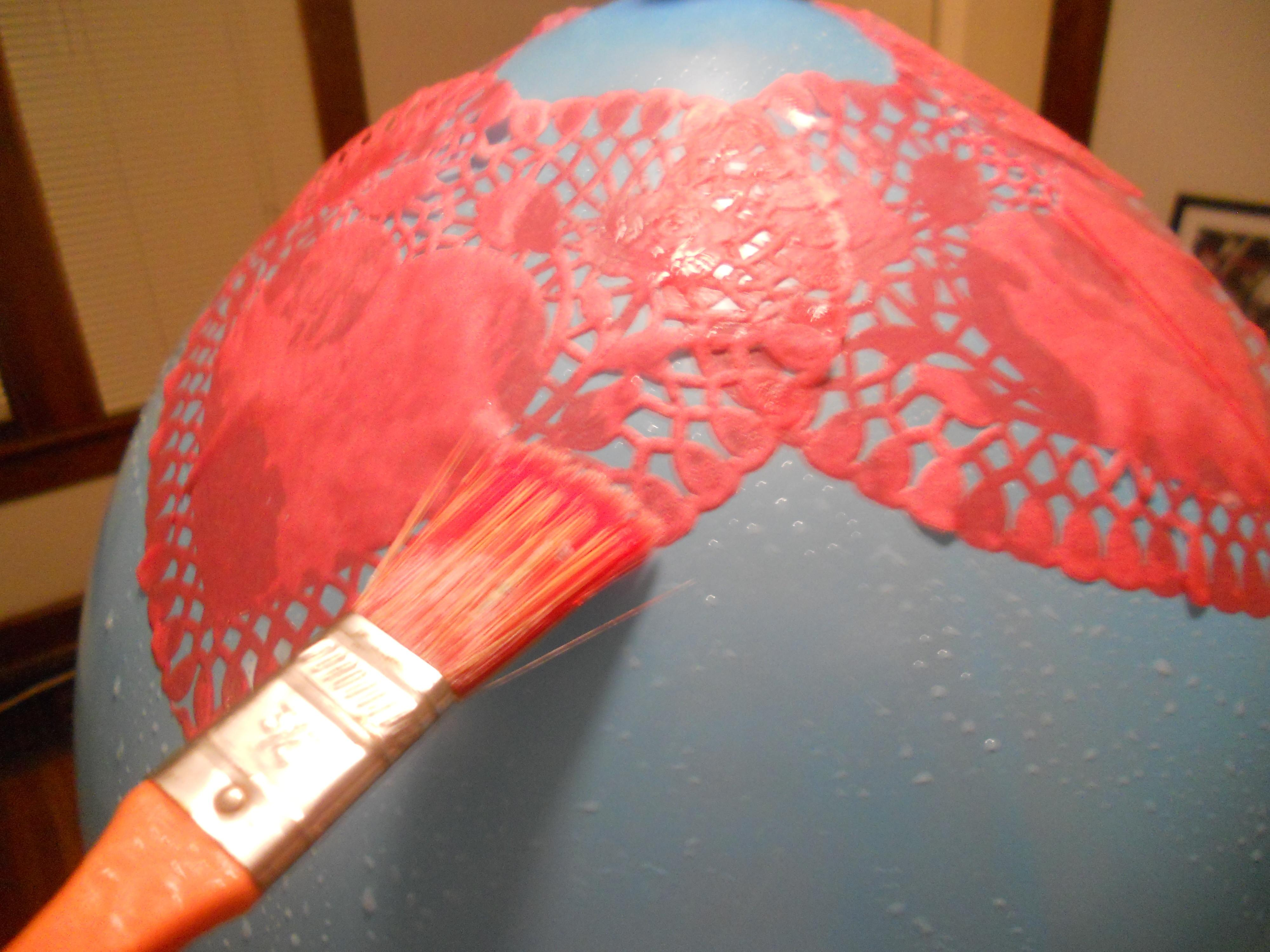 Paper Lace Doily Lamp Live Lovely