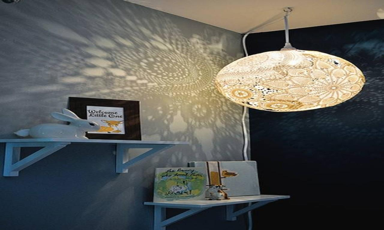 Paper Lantern Lamps Diy Doily Lamp Tutorial