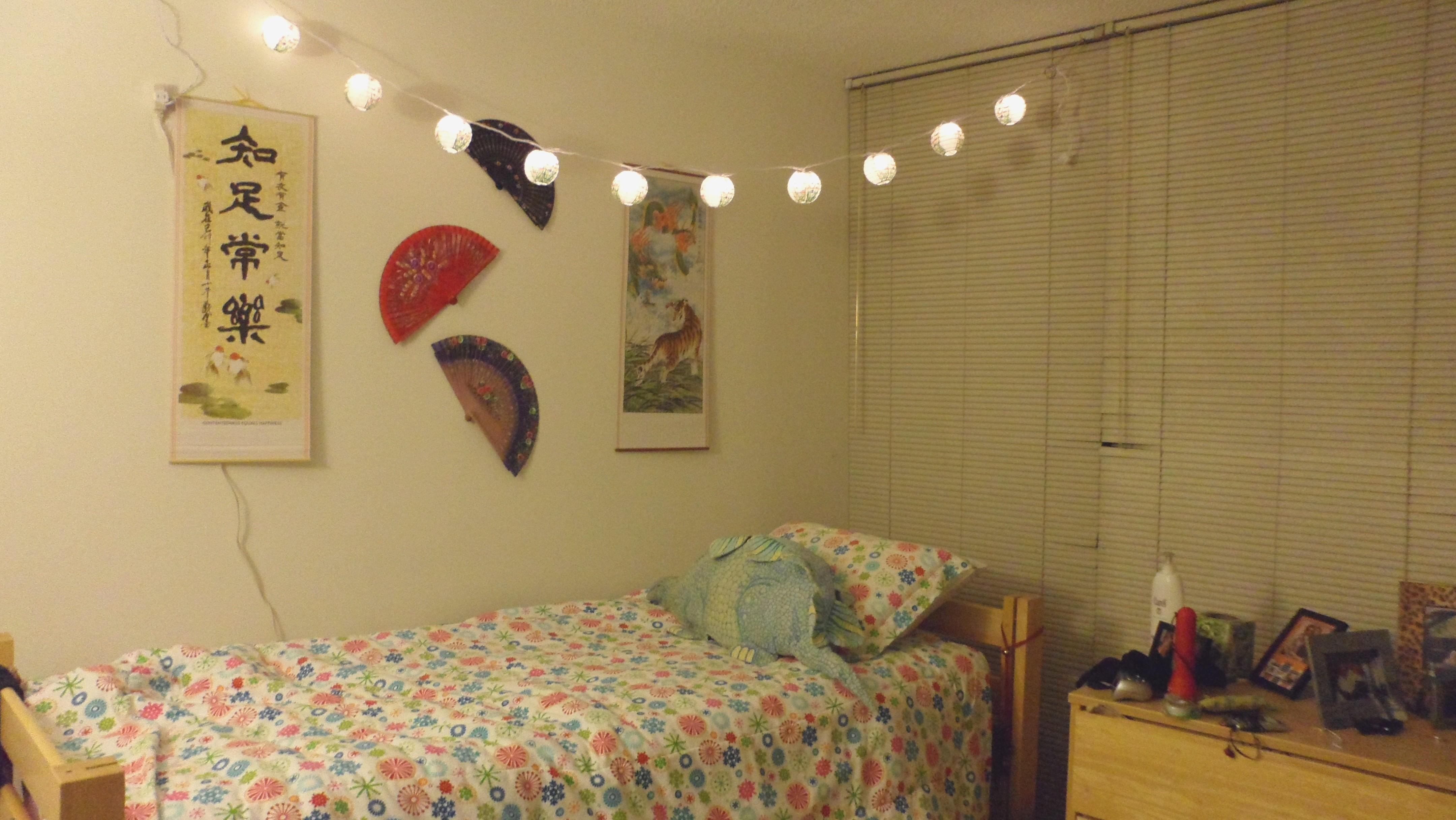 Paper Lantern String Lights Bedroom Fresh