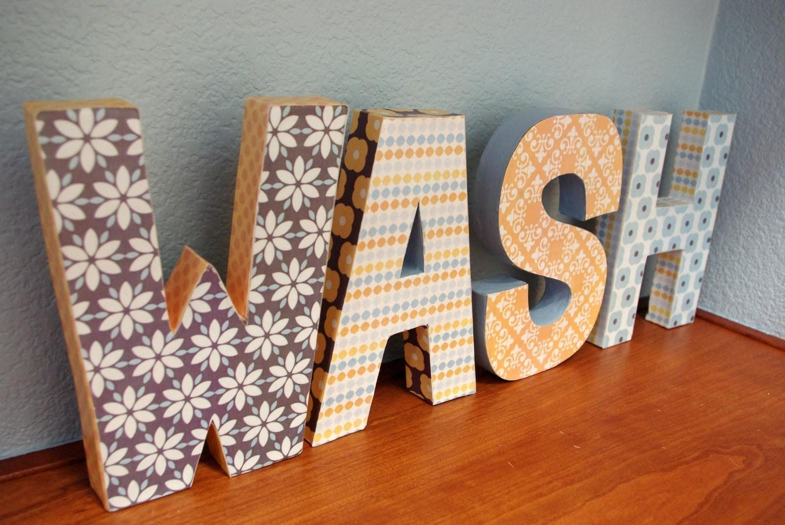 Paper Mache Letters Happiness Homemade