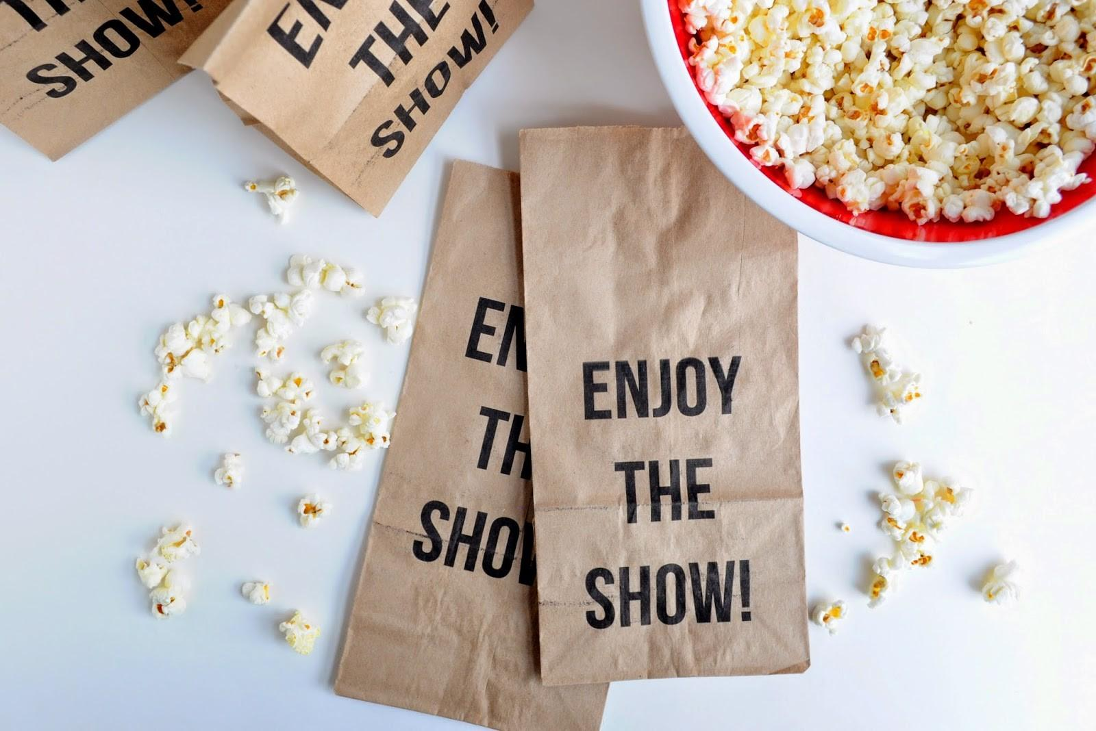 Paper Popcorn Bag Template Pink Pages Diy Mommy Best