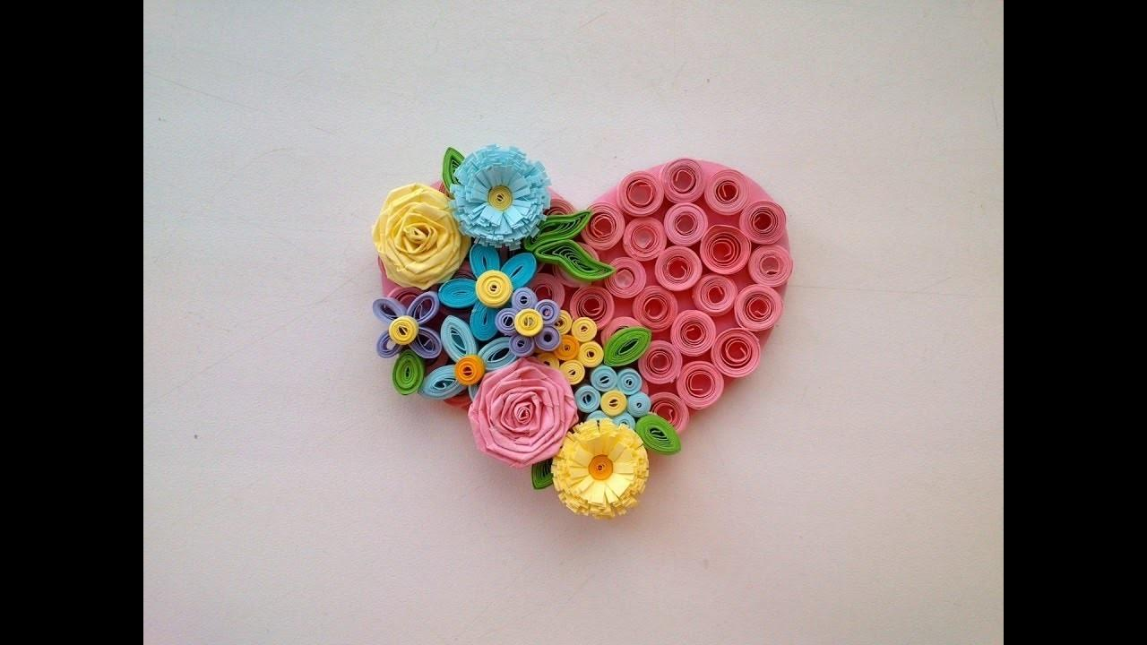 Paper Quilling Art Valentines Day Idea