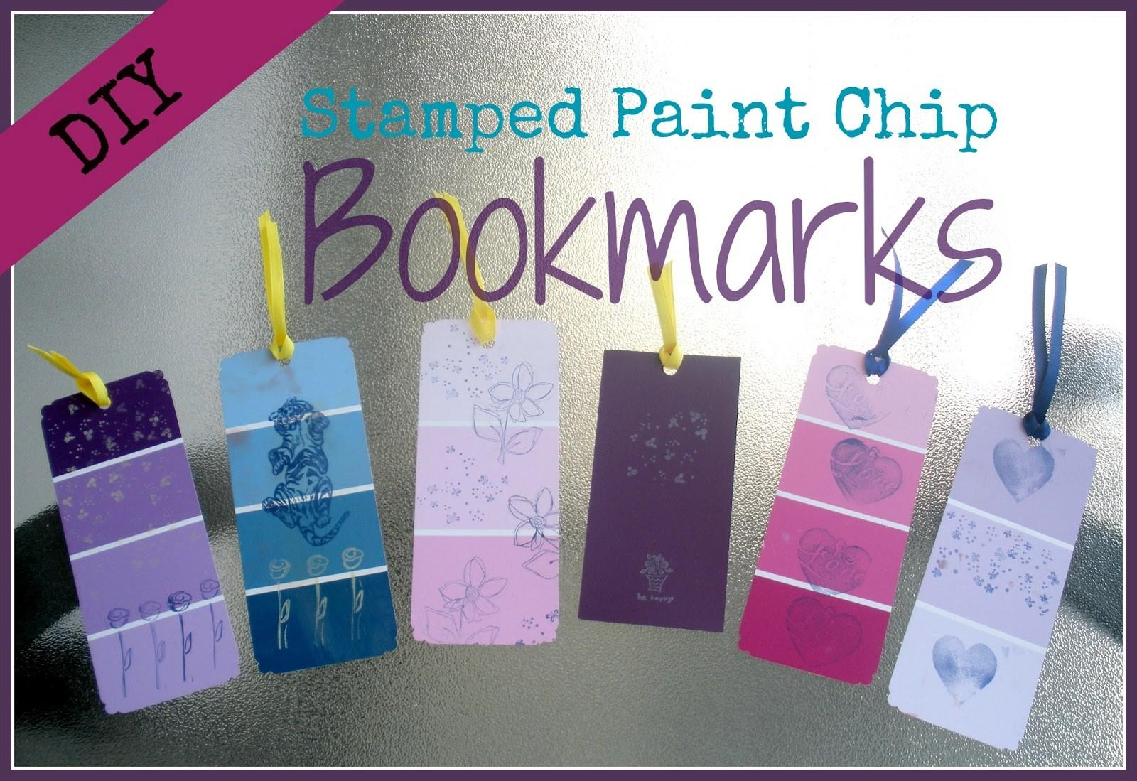Paper Tape Pins Diy Stamped Paint Chip Bookmarks