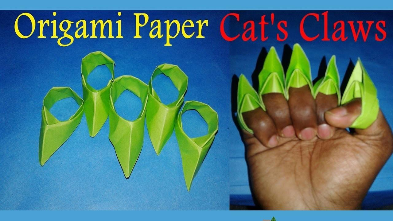 Papier Make Paper Cats Claws Easy Step