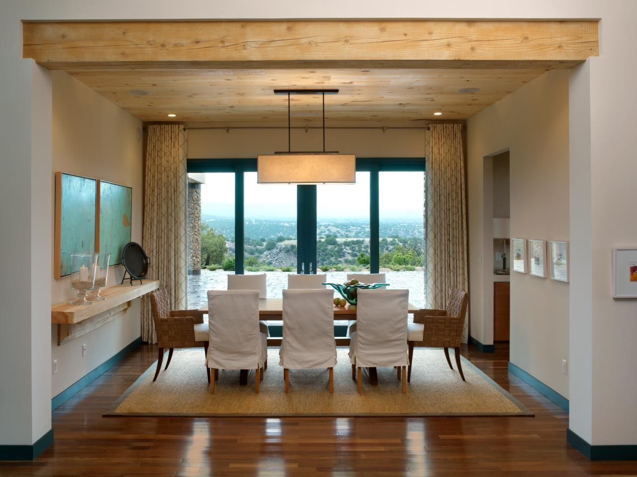 Pared Down Palette Punctuates Casual Dining Space