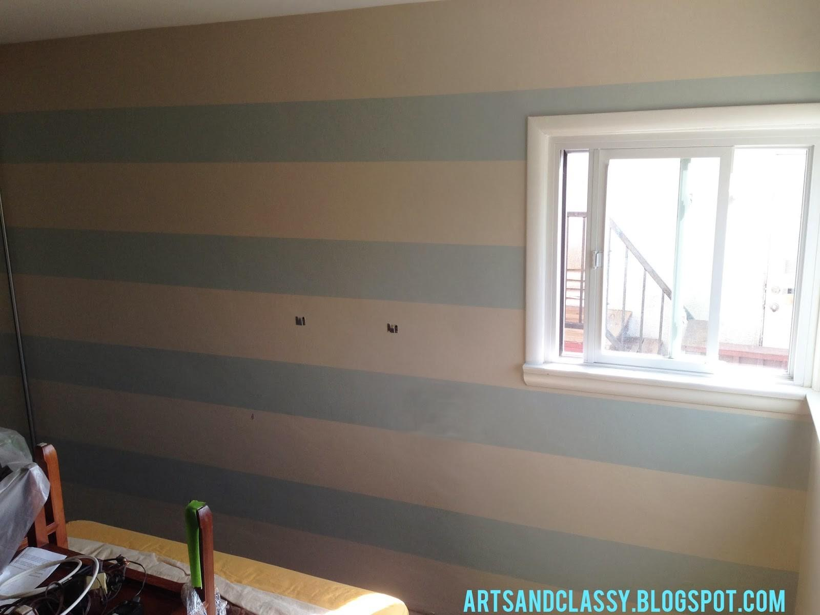 Parent Room Makeover Striped Accent Wall Tutorial