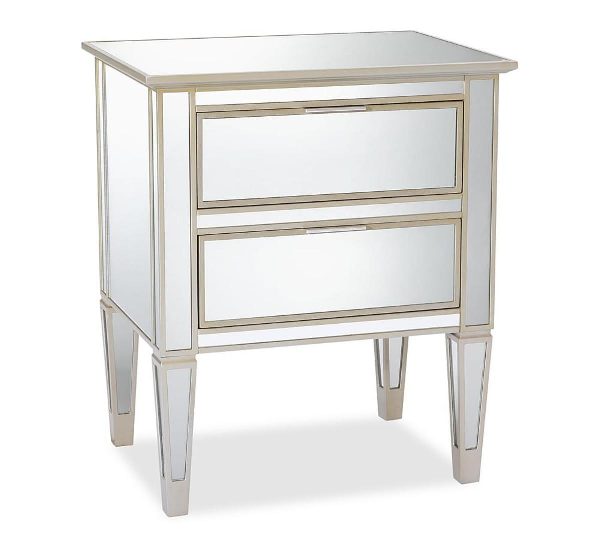 Park Mirrored Drawer Bedside Table Pottery Barn