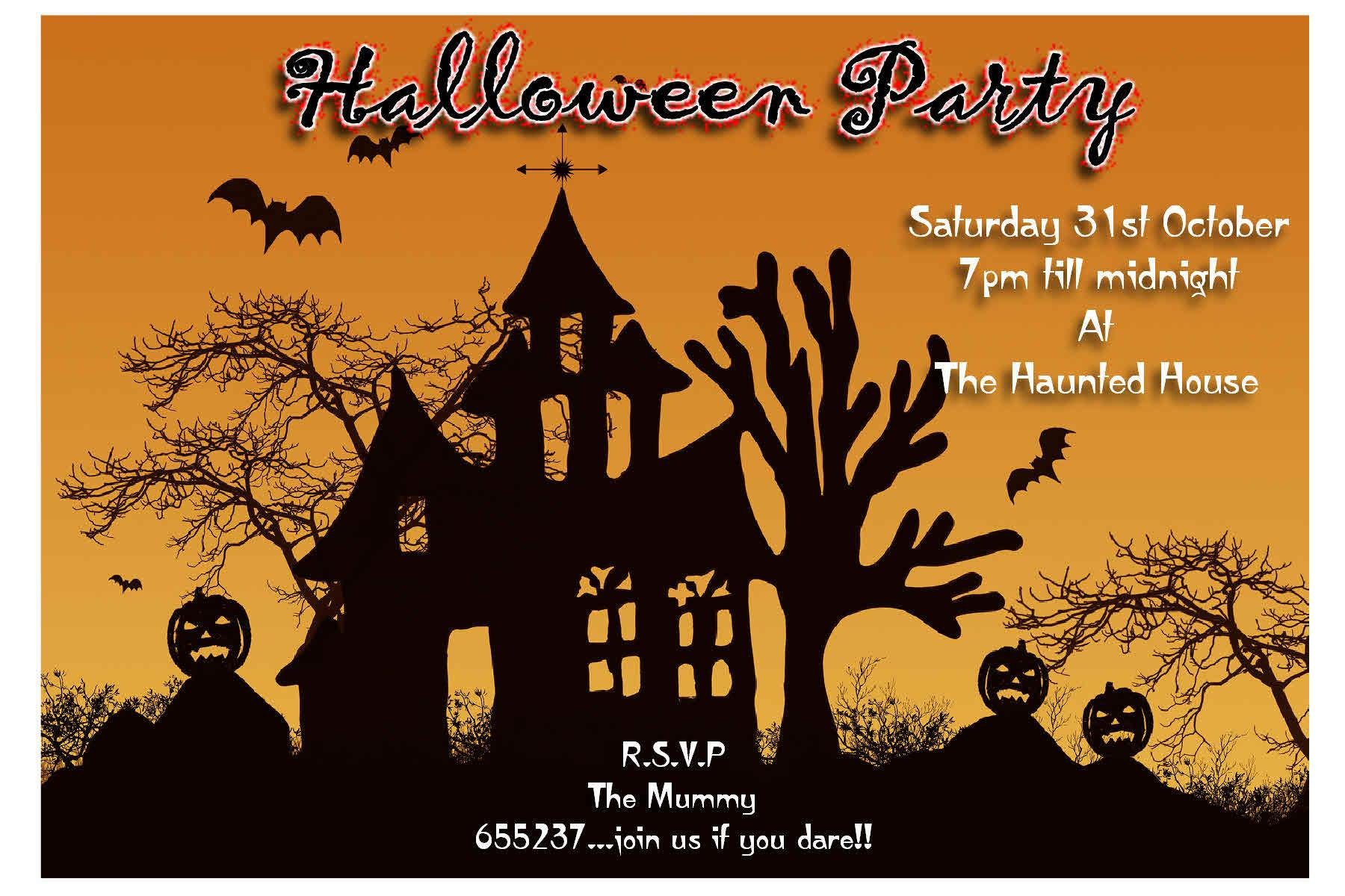 Party Invitations Awesome Design Halloween Invite