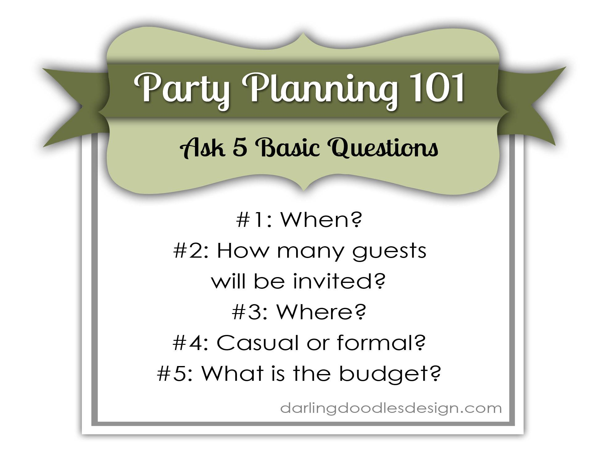 Party Planning 101 Darling Doodles