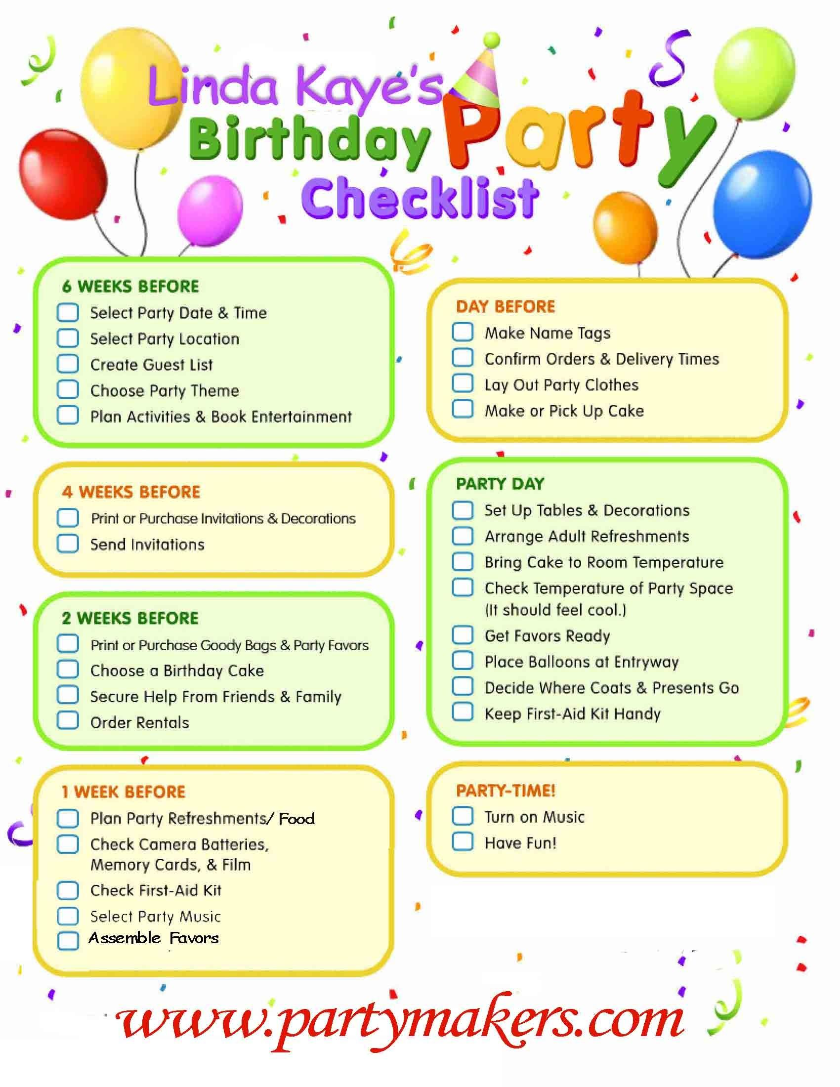 Party Tips Linda Kaye Partymakers