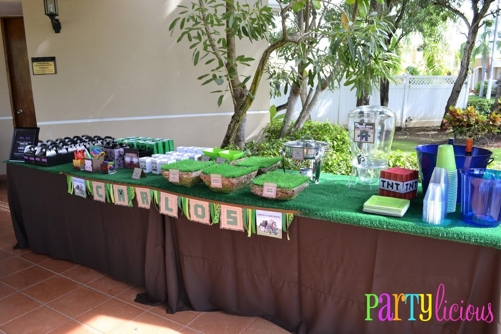 Partylicious Events Minecraft Birthday Party