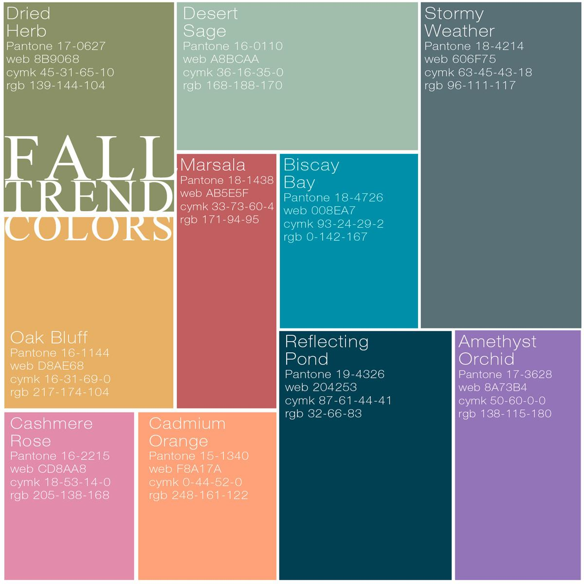 Passion Flowers Fall Trend Colors Pantone Top