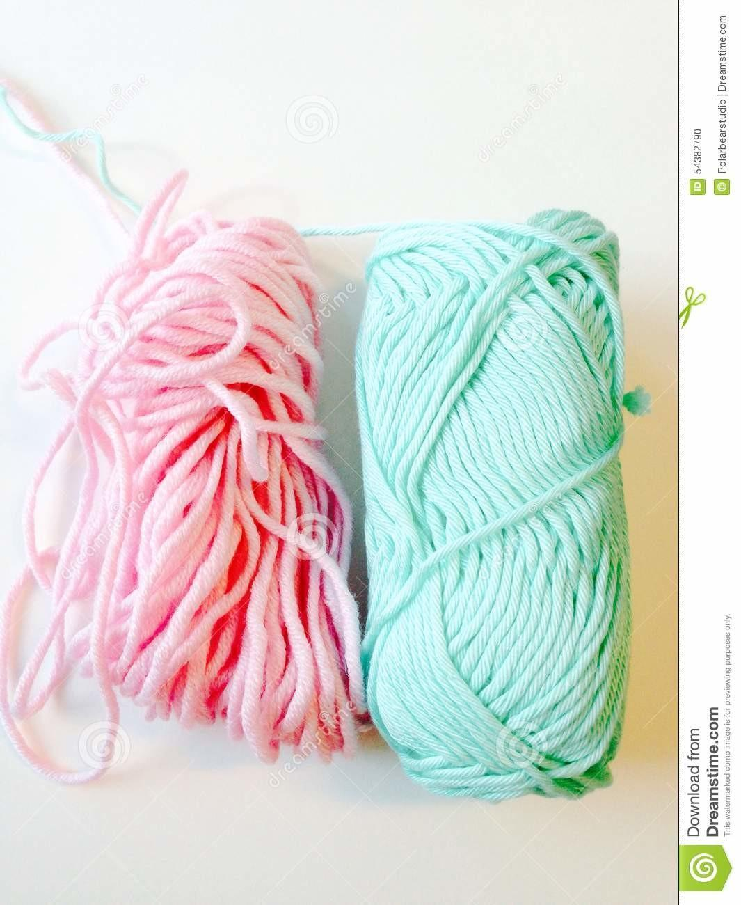 Pastel Color Yarns Stock