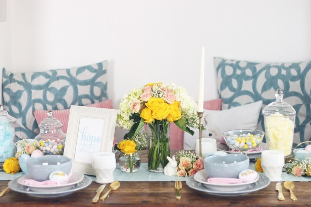 Pastel Easter Table Inspiration Styling Ideas
