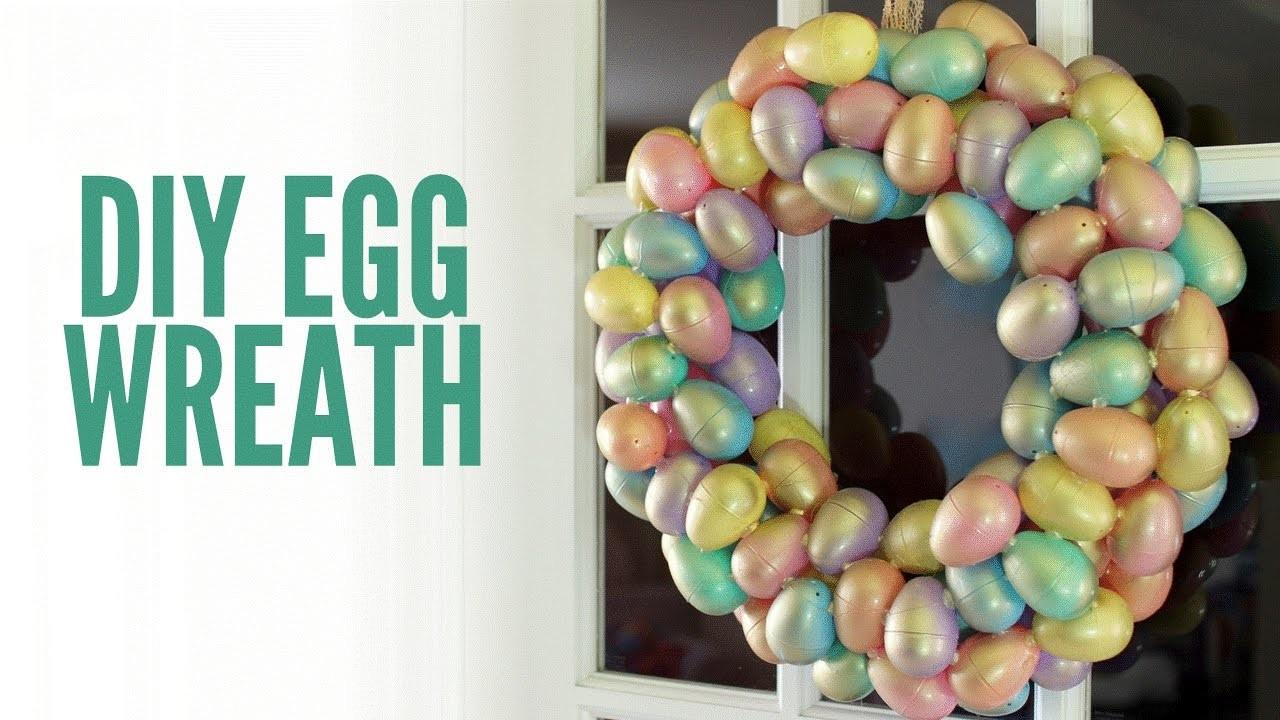 Pastel Gold Diy Easter Egg Wreath Make