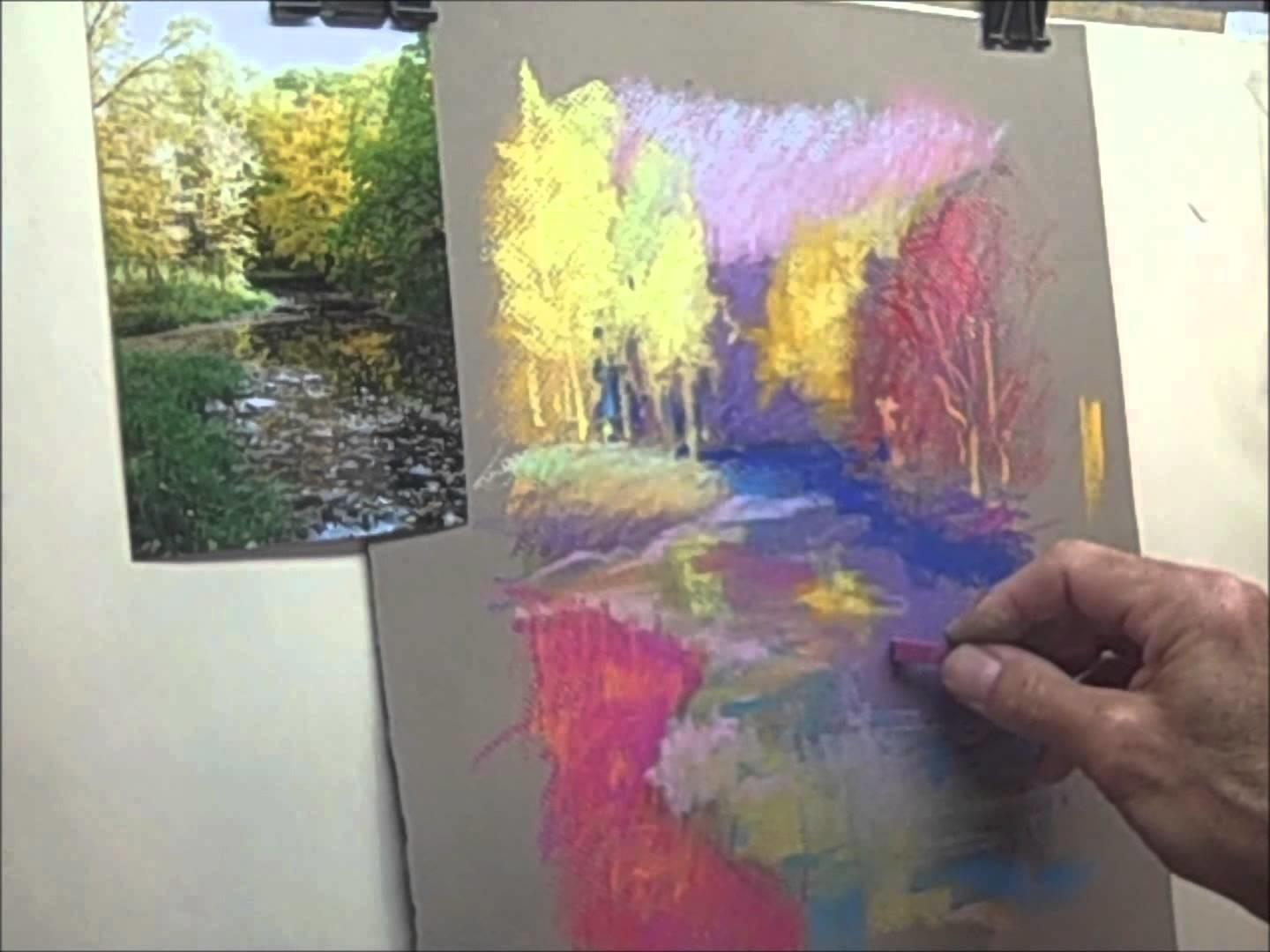 Pastel Painting Impressionist Style