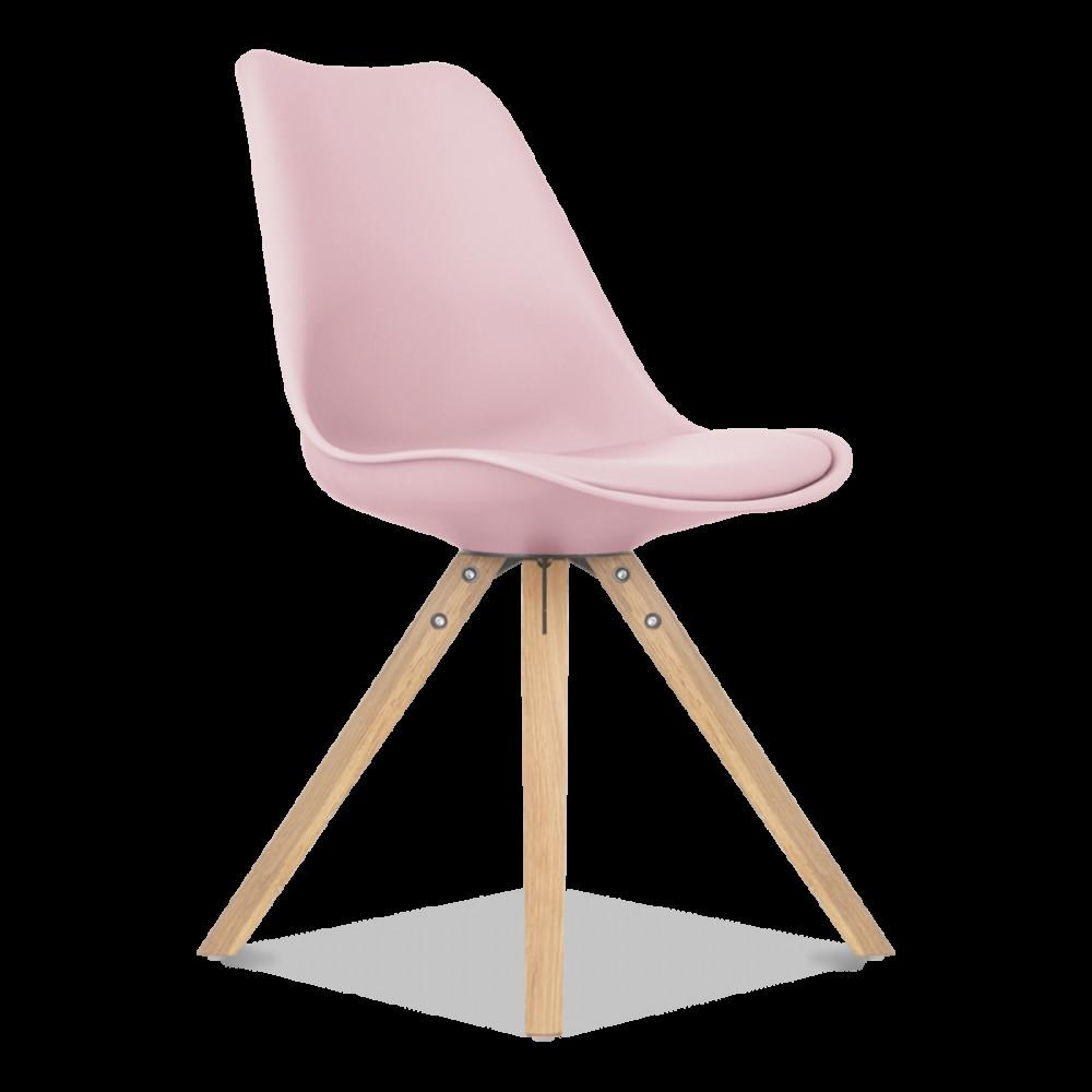 Pastel Rose Dining Chair Solides Jambes Bois Cult