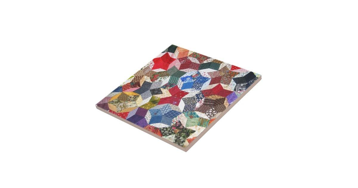 Patchwork Quilt Tile Zazzle