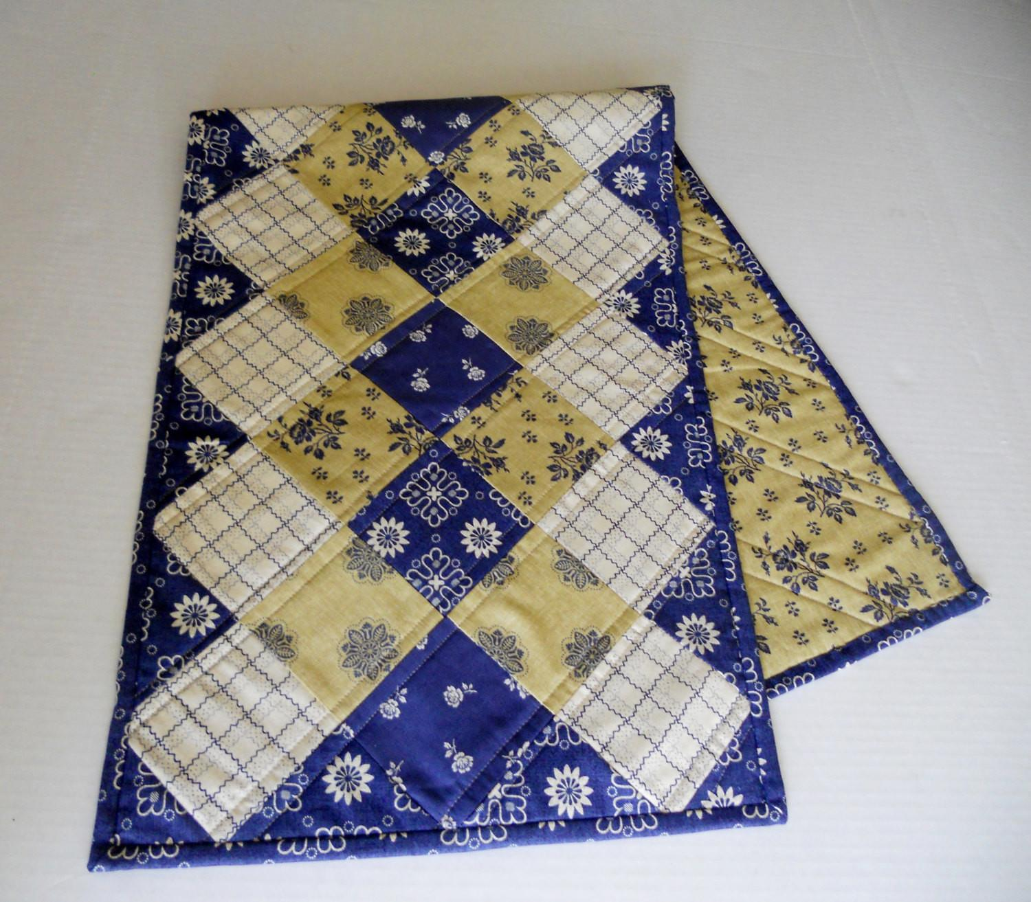 Patchwork Quilted Table Runner Ombre