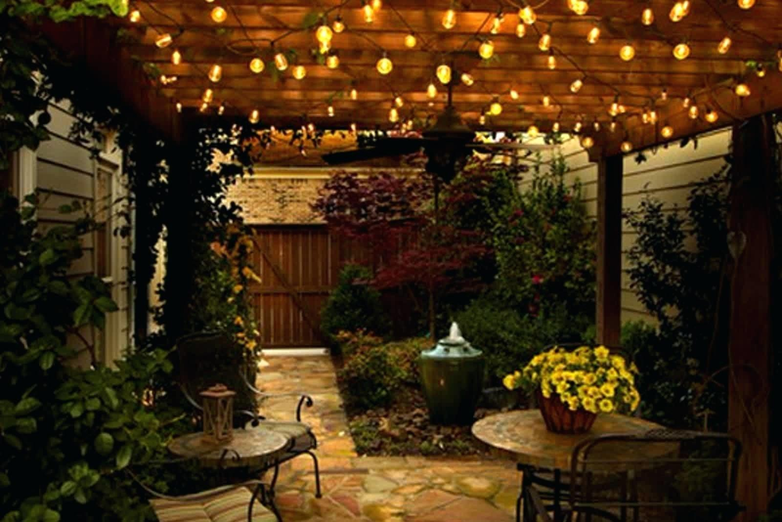 Patio Furniture Ideas String Lights Solar Backyard Target