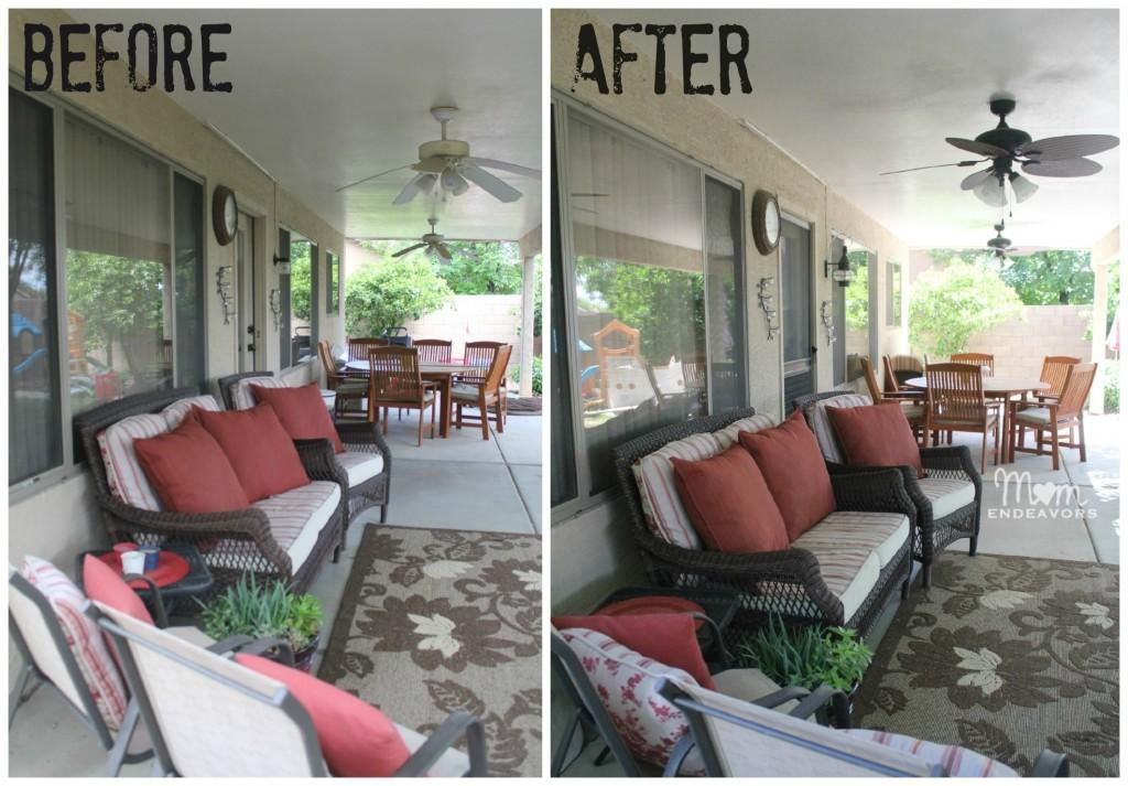 Patio Lighting Ceiling Fan Makeover Lowescreator