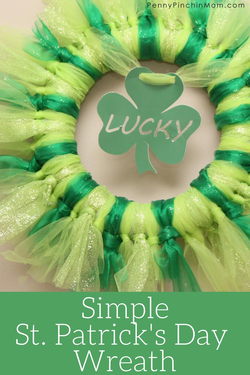 Patrick Day Wreath Tutorial Easy Make Home